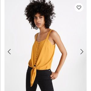 MADEWELL button front tie tank